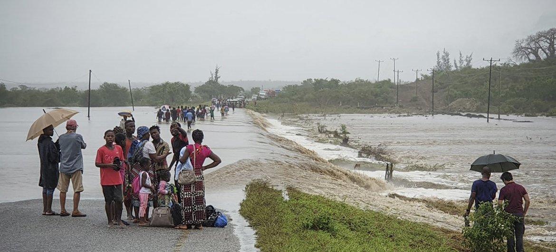 Uma parte das populações de Cabo Delgado também sofreu com as recentes inundações.