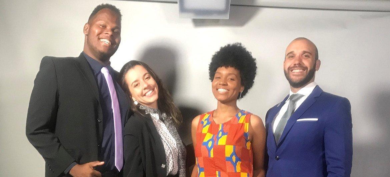 Caio Medina, Maria Eduarda Couto, Thânísia Cruz, Maurício Peixoto são embaixadores da Juventude do Escritório das Nações Unidas sobre Drogas e Crime, Unodc, no Brasil