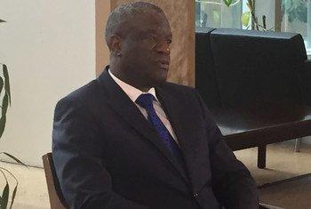 Dkt. Denis Mukwege, Daktari kutoka DR Congo, na mwanaharakati wa haki za binadamu aliyeshinda tuzo ya amani ya Nobel mwaka 2019.