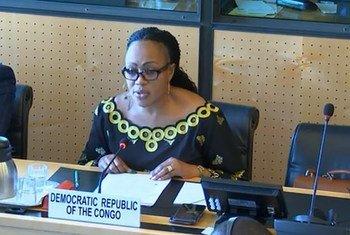 La Ministre des droits humains de la RDC, Marie-Ange Mushobekwa (archives)