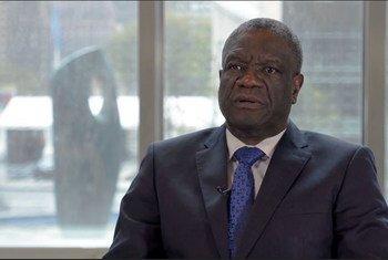 Dkt. Denis Mukwege, mshindi wa tuzo ya amani ya Nobel 2018 na muasisi na mwendeshaji wa kliniki ya Panzi, Bukavu jimboni Kivu  Kusini nchini DRC.
