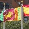 علم سريلانكا يرفرف في المقر الدائم للأمم المتحدة في نيويورك