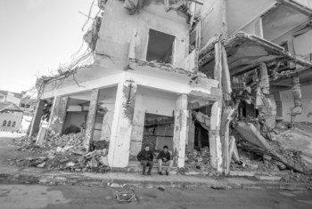 Destruction in Tripoli, Libya.