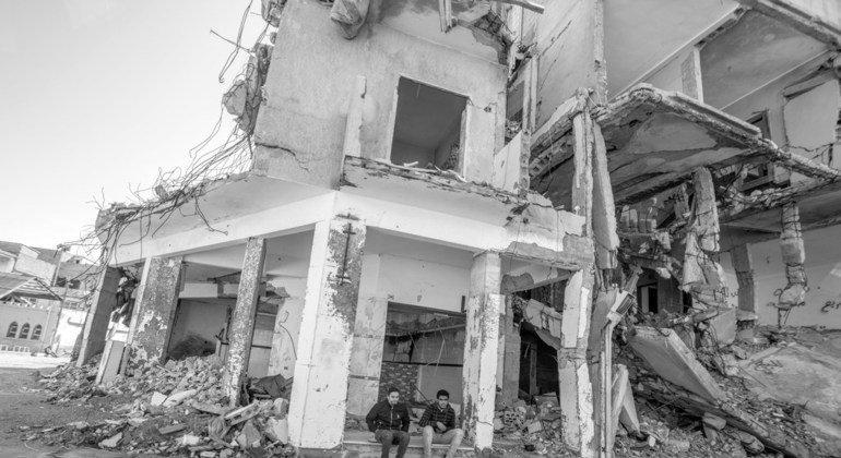 Destrucción en Trípoli, Libia