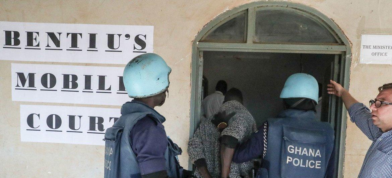 La corte móvil de Bentiu, en Sudán del Sur.