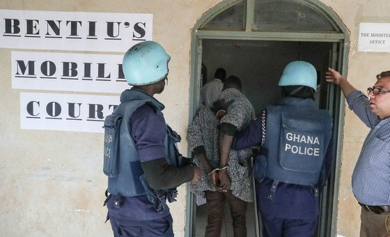 entiu mobile court starts prosecuting cases in the Mission's Protection of Civilians site (POC). (December 2018) by UNMISS/Isaac Billy