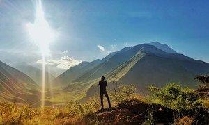Восход солнца в провинции Карачи, Эквадор