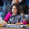 Pramila Patten, Special Representative of the Secretary-General on Sexual Violence in Conflict, addresses the Security Council meeting on women and peace and security, with a focus on sexual violence in conflict. (April 2019)