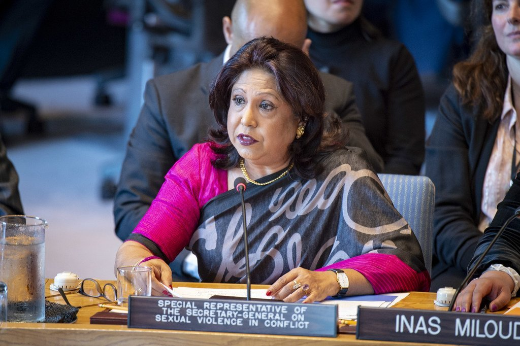 من الأرشيف: المديرة التنفيذية لهيئة الأمم المتحدة للمرأة بالإنابة، والممثلة الخاصة للأمين العام المعنية بالعنف الجنسي في حالات النزاع، براميلا باتن.