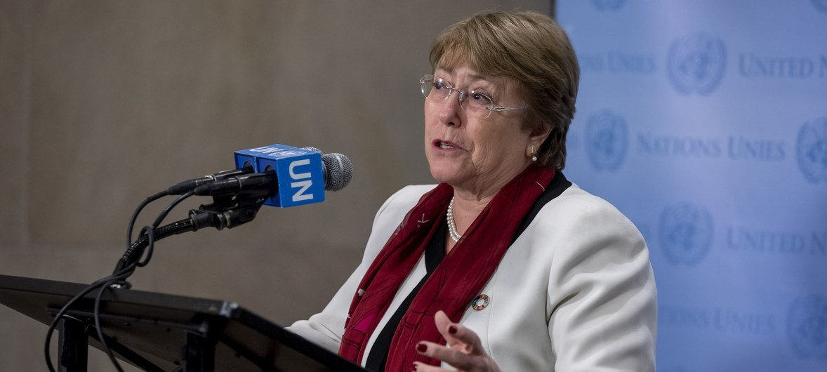 United Nations High Commissioner for Human Rights Michelle Bachelet (file).