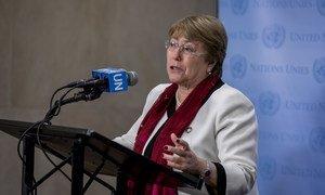 من الأرشيف: مفوضة الأمم المتحدة السامية لحقوق الإنسان ميشيل باشيليت.