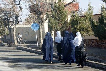 Civilians in Gardez city, Paktia Province, Afghanistan.