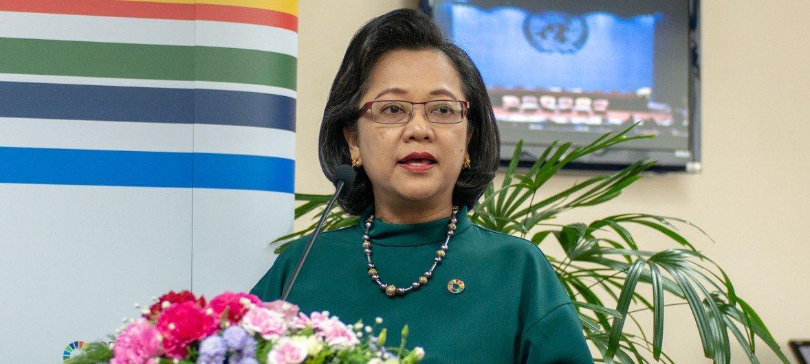Armida Alisjahbana, Secrétaire exécutive de la Commission économique et sociale pour l'Asie et le Pacifique (CESAP).