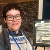 Вероника Осипова на выставке своих работ в ООН
