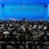 El Secretario General António Guterres habla en el Foro de Cooperación Internacional del Cinturón y Ruta de la Seda, celebrado en Beijing.
