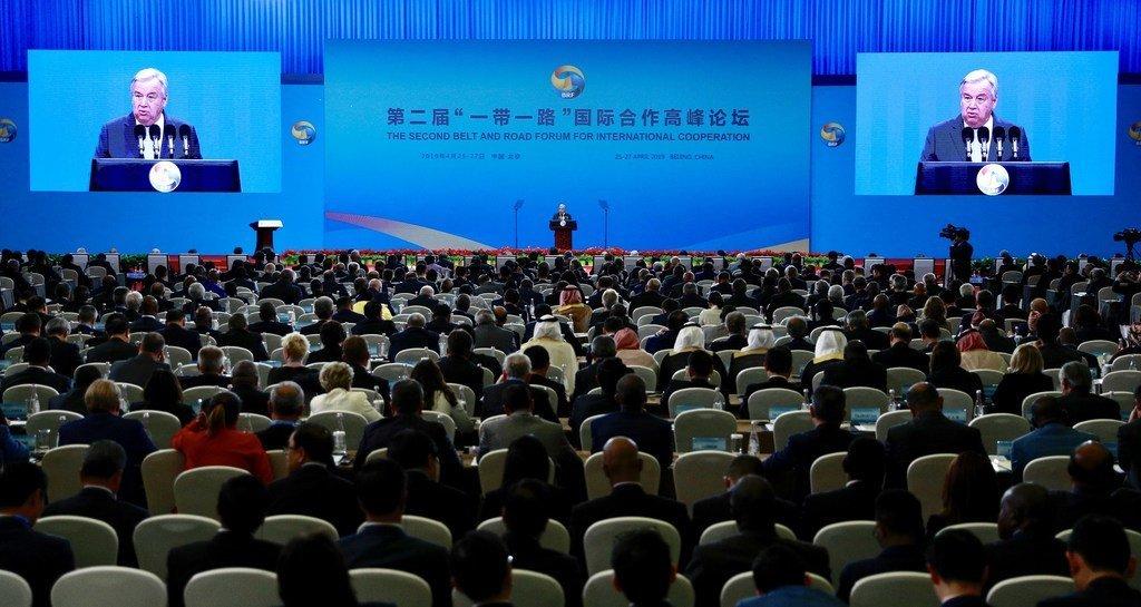 Le Secrétaire général des Nations Unies, António Guterres, a prononcé une allocution lors de l'ouverture du Forum de la ceinture et de la route pour la coopération internationale à Beijing (Chine).