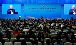 UN Secretary General António Guterres delivered remarks at the opening of Belt and Road Forum for International Cooperation in Beijing China