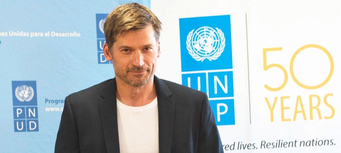 UNDP Goodwill Ambassador, Danish actor Nikolaj Coster-Waldau.