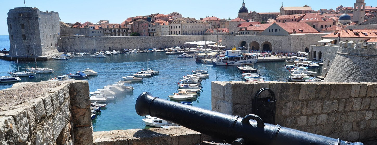 Cannon in Old City of Dubrovnik (Croatia).
