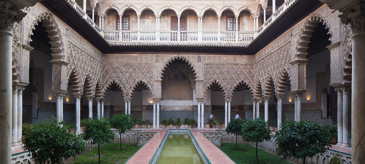 Cathedral, Alcázar and Archivo de Indias in Seville (Spain).