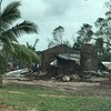 Разрушения в результате циклона Кеннет в Мозамбике