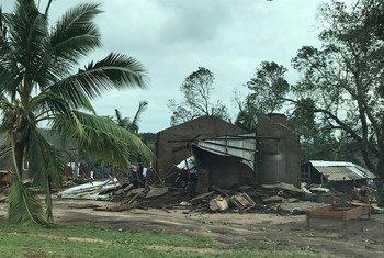 Moçambique: nos distritos de Macomia, Mocímboa da Praia, Muidumbe e Palma, em Cabo Delgado, os ventos ultrapassaram 120 quilômetros por hora.
