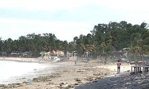 Parte da destruição deixada pelo ciclone Kenneth que atingiu Moçambique em 25 de abril de 2019.