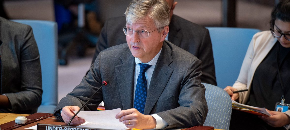 Jean-Pierre Lacroix, Under-Secretary-General for the Department of Peace Operations, briefs the Security Council.