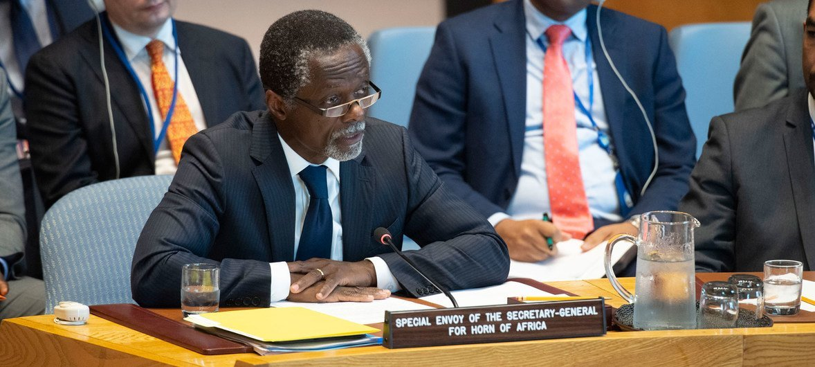 Parfait Onanga-Anyanga, Special Envoy of the Secretary-General for the Horn of Africa, briefs the Security Council on the situation in the Sudan and South Sudan including the situation in Abyei.