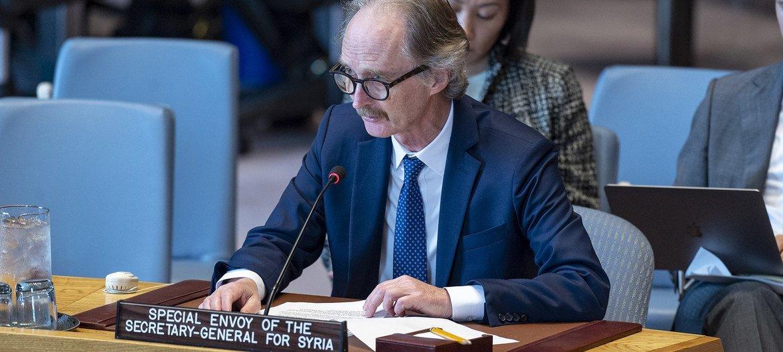 Гейр Педерсен рассказал членам Совета Безопасности о том, как продвигается политический процесс в Сирии.