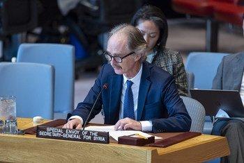 Гейр Педерсен рассказал членам Совета Безопасности о том, как продвигается процесс политического урегулирования в Сирии.Фото из архива.
