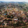 Aerial view of Butembo, Democratic Republic of the Congo, where on 19 April armed men attacked an Ebola hospital and WHO epidemiologist Dr. Richard Mouzoko was killed.