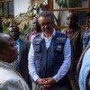 Mkurugenzi mkuu wa WHO Adhanom Ghebreyesus alipozuru Butembo nchini DRC Aprili mwaka 2019 baada ya watu wenye silaha kushambulia kituo cha Ebola