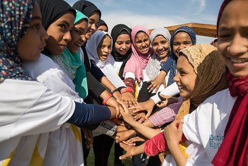 """من فعاليات مبادرة """"الوجهة مصر 2030"""" التي ينظمها صندوق الأمم المتحدة للسكان بالتعاون مع وزارة الشباب والرياضة في محافظة الأقصر بدعم من الاتحاد الأوروبي وبالشراكة مع الجهات الحكومية والمجتمع المدني."""