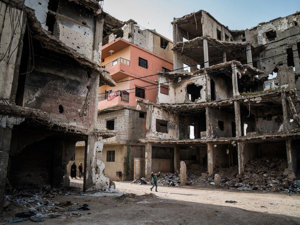 Bâtiments détruits à Tripoli, en Libye (photo d'archives).