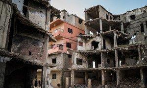 Casas destruidas por los bombardeos en Trípoli.