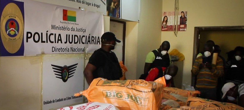 几内亚-比绍缴获的毒品。