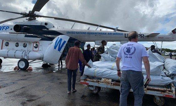 Chegada de mantimentos do PMA a Moçambique