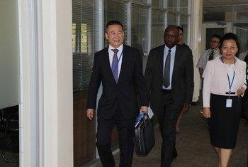 L'Envoyé spécial de l'ONU pour la région des Grands lacs d'Afrique, Huang Xia, arrive à Nairobi pour prendre ses fonctions, le mardi 2 avril 2019.