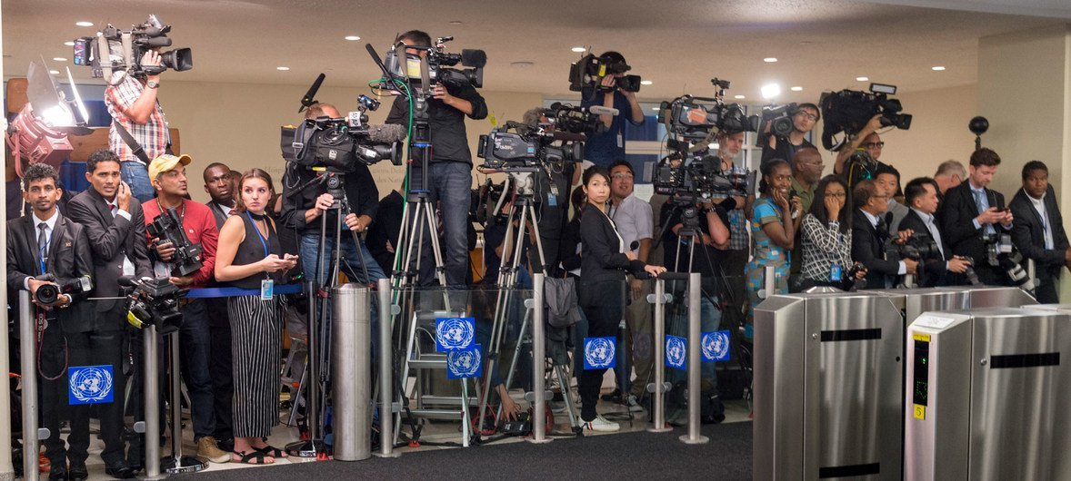 В ООН работают сотни журналистов из разных стран мира