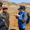 Tathmini ya FAO na WFP wakati walitembelea kaunti ya Unpa mkoa wa Kaskazini wa Hwanghae nchini Jamhuri ya kidemokrasia ya watu wa Korea au DPRK Aprili 2019.