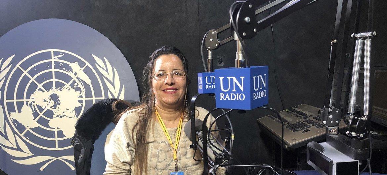 الصحفية المغربية زهرة وحساين المتخصصة والباحثة في الثقافة الأمازيغية وفي قضايا المناخ