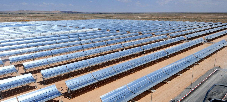 太阳能电厂。