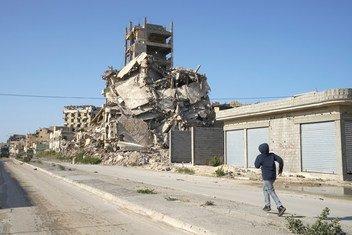 (من الأرشيف) آثار الدمار في المدينة القديمة في بنغازي