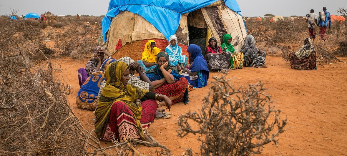 Pastoralists moved to temporary sites close to permanent water point, as drought affected Ethiopia Somali region.