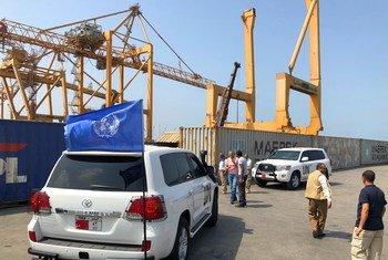 أرشيف: فرق بعثة الأمم المتحدة لدعم اتفاق الحديدة تقوم بدورية مراقبة في الحديدة القريبة من خزان صافر الذي يهدد بمخاطر بيئية.
