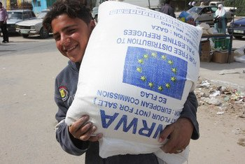 More than half the population of Gaza depends on food aid from the international community. (file 2010)