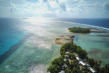 Государство Тувалу в Тихом океане в первую очередь пострадает от повышения уровня моря, связанного с изменением климата.