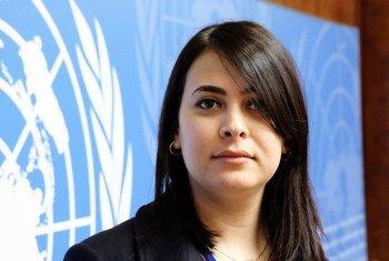 Safa Msehli from the International Organization for Migration in Libya.