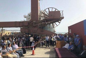 Luteni Jenerali Michael Lollesgaard alipotembelea bandari za Hodeida, Salif na Ras Issa ili kuona uhamishaji vikosi vya Houthi.